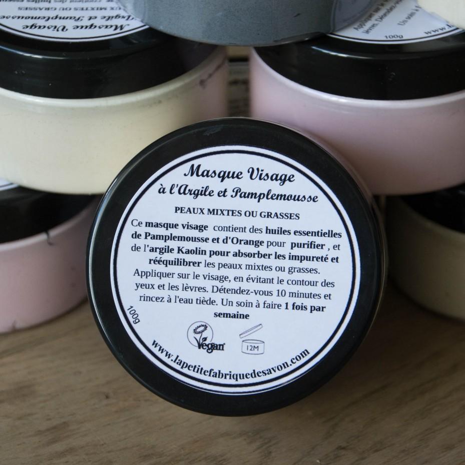 Masque visage - Pamplemousse & Argile Kaolin - La Petite Fabrique savonnerie