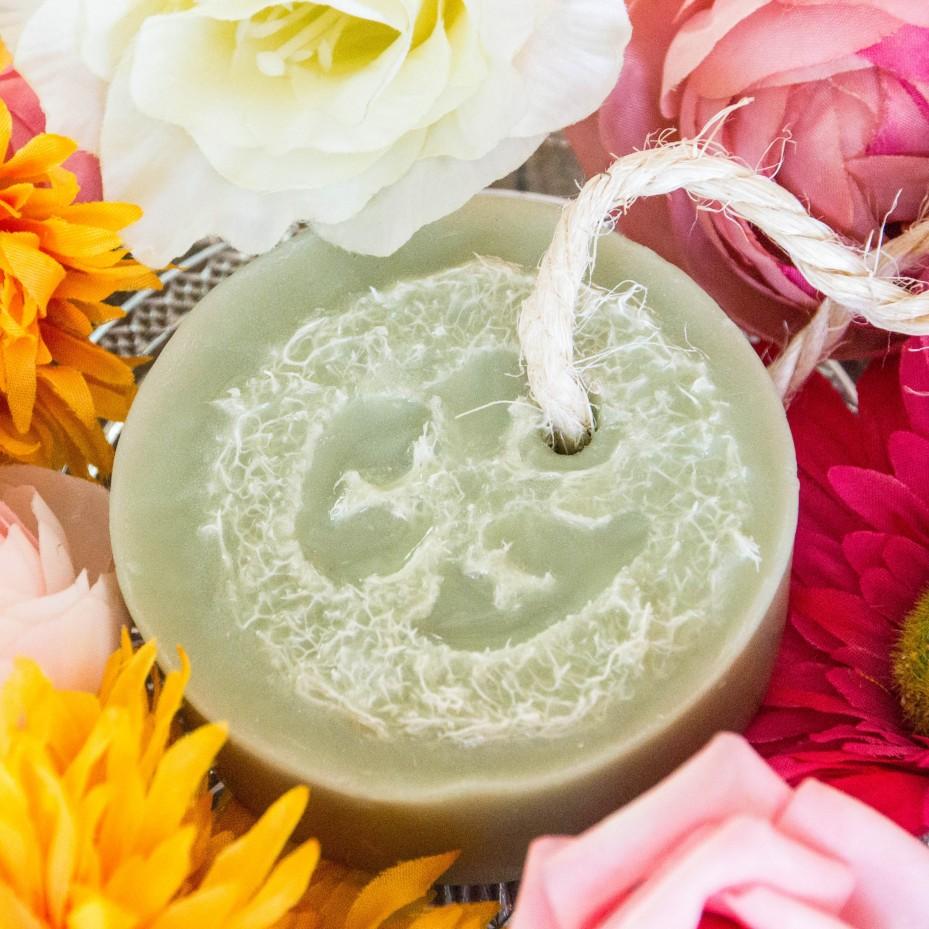 Savon Loofah à la Verveine Citronnée - La Petite Fabrique savonnerie