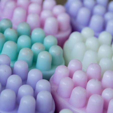 Savon de massage au Coton frais  (exfoliant) - La Petite Fabrique savonnerie
