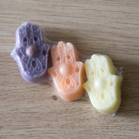 Trio de savons Mains porte-bonheur