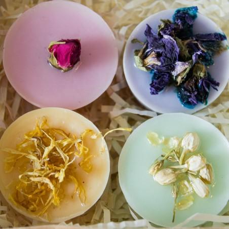 Box botanique: 4 savons naturels assortis