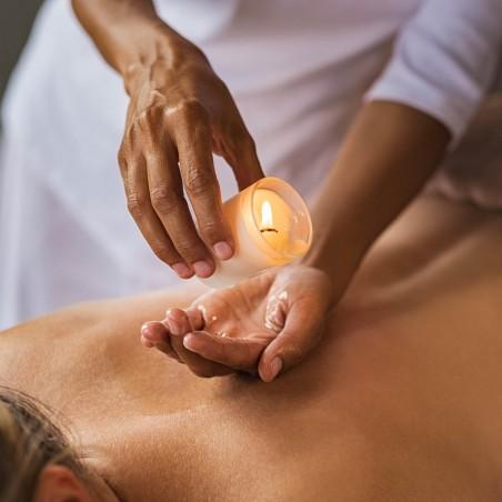 Bougie de massage relaxante à la cire de Soja